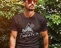 Création t-shirt logo tripster, loolye labat