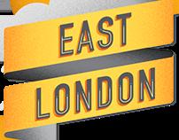East London Lettering Illustration Map