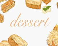 Dessert illustration for La Vie magazine