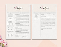Floral Resume Coverletter Template