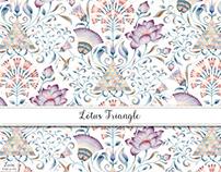 Lotus & Triangle Pattern Design