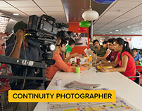 Continuity Photographer at Ad Production
