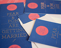 PEAR&POM WEDDING INVITATION CARD