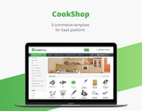Cook shop/E-commerce template/Web design/UI/UX