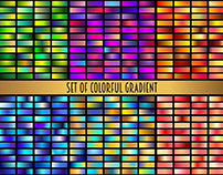 Set of bright colorful gradients