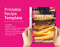 Recipe Ebook Template Editable Microsoft Publisher