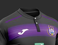 Anderlecht football kit.