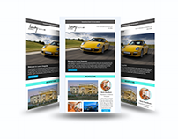 Car email template design and responsive coding