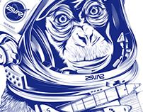 Weltraum Affe (Space Monkey)