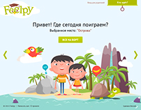 Web site design for the children's learning portal