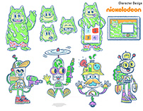 Character Designs for Nick App