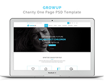 Growup – Charity One Page PSD Template