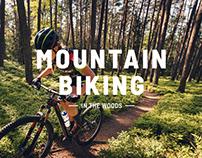 Mountainbiking in the Woods
