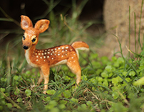 Poseable Fawn