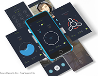 Free Smart Home Ui kit - Sketch File