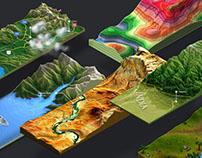 3D Map Generator - Terrain