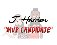 "J. Harden Cartoon ""MVP Candidate"""