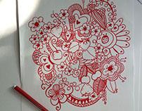 """Doodle """"Frutti rossi"""""""