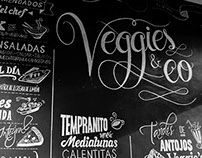 VEGGIE'S / Pizarrón con lettering