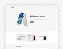 Subas eCommerce psd template.