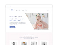 'Baby on Board' eCommerce site
