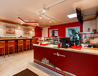 Tsar-Pishka fast-food restaurant in Russian Lubok Style