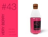 #43 Very Berry Milkshake branding