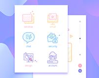 A few Web icons