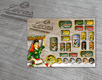 Vintage Sardine Packaging