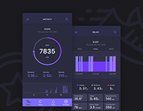 Fitness Tracker. Concept iOS Application