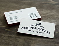 Copper & Clay Business Cards