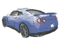 Nissan GT-R Illustrator
