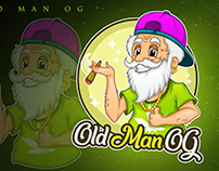 mascot logo old man