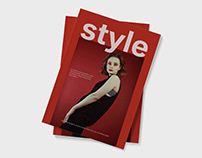 Training project on layout Fashion magazines