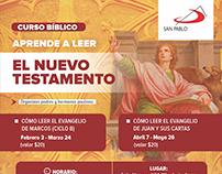 Diseño de poster San Pablo Ecuador