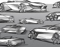 Exterior Design: Alfa Romeo Spider Sketch