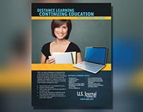 US Journal Training Advertisement Designs