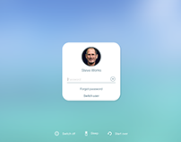 iOS Style Simple Login page