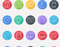 iOS8 Icons - Colorful Flat Icons - Line Icons Pack