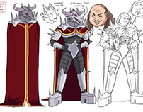 The Dare Nairts - Supremius character designs