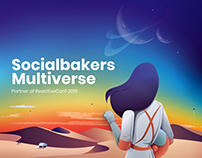 Socialbakers Multiverse Stand for Reactive Conf 2019