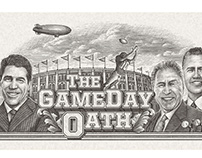 ESPN College Gameday Oath Illustrated by Steven Noble