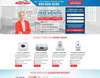 Landing Page Design for a Medical Company