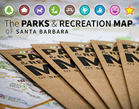 The Parks and Recreation Map of Santa Barbara