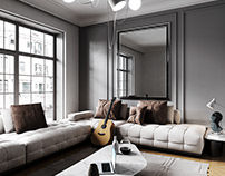 Architectural Living room CGI