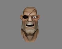 Sagat Face, disney infinity style