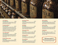 The Mill Coffee tri-fold brochure
