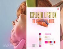 E-COMMERSE Beauty.Explosion cosmetics website concept