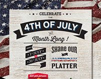 4th of July: Monthly Promo