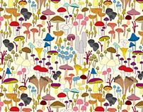 Fantasy Mushroom Repeat Pattern